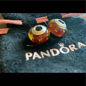 Pandora Orange Bubble Charms